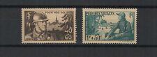 FRANCE 1940 pour nos soldats 2 timbres neufs /T1802