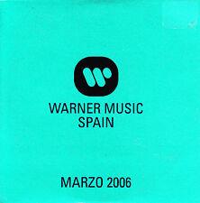 CD promo SAMPLER warner music MADONNA union STREETS flaming lips LENA SPAIN 2006