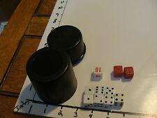 Vintage Game: dice in closed top plastic container,