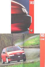 Alfa Romeo 145 1994-1996 Original UK Sales Brochure Pub. No. AR301