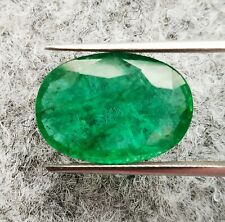 Natural Emerald Oval 7.31ct IGI Certified Untreated Zambian Loose Gemstone
