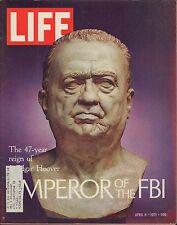 LIFE April 9,1971 Bust of J Edgar Hoover / Derek Sanderson / Last Chance for Pea