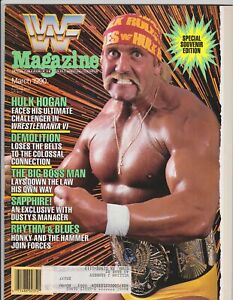 WWF Magazine March 1990 Wrestling Hulk Hogan Wrestlemania VI WWE Vintage