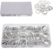 Car Aluminum Crush Flat Washer Seal O-Ring Gasket with Box 450Pcs 18 Sizes Mixed