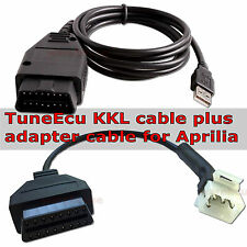 TuneEcu genuine KKL cable plus 6 to 16 pin adapter cable for APRILIA