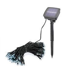 Solar Lichterkette 100 LED kaltweiß Solarleuchte Solarlampe Außen, esotec 102355