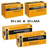 Duracell Industrial 20 x AA 20 x AAA Alkaline Batteries Procell MN1500 LR6 LR03
