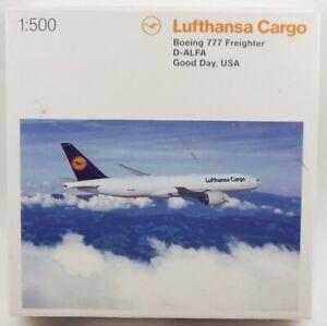 Herpa Wings 524292 Lufthansa Cargo Boeing 777-FBT 'D-ALFA' 1/500 Scale Model