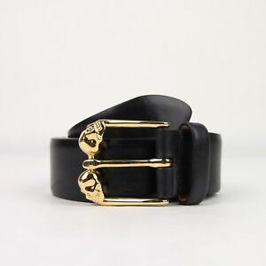 Alexander McQueen Men's Black Leather Belt 105/42 338875 CQE0T 1000