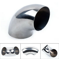 3 75MM 90 DEGREE TIGHT RADIUS MANDREL BEND STAINLESS STEEL EXHAUST PIPES USEFUL