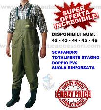 SCAFANDRO STIVALE DOPPIO PVC STAGNO NUMERO 45 BARCA GOMMONE PESCA SPINNING ALTRO