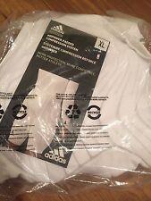 New Adidas Basketball Techfit Climacool Mens Padded Shorts White Size XL