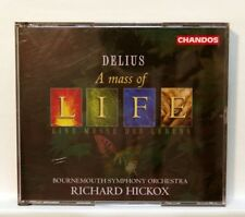 RICHARD HICKOX - DELIUS a mass of life, requiem CHANDOS 2xCDs NM