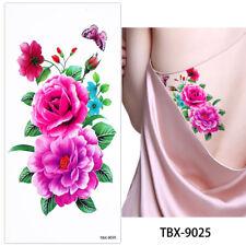 PINK Rose Fiore Adesivi Tatuaggi Temporanei Body Art 3D FLORA Tatuaggi IMPERMEABILE