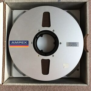 "AMPEX 456 10.5"" x 2"" studio reel to reel tape METAL SPOOL 2400ft"