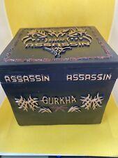 "Gurkha Assassin Cigar Box - 5"" Square - Black - Limited Edition free shipping"