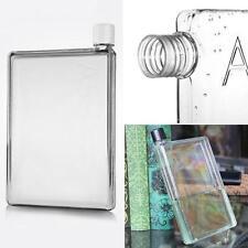 420 ML Memobottle Mini Clear A5 Paper Bottle Flat Water Bottle Cup Kettle New