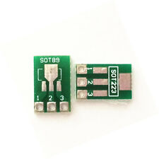 10x Double-Side SMD SOT223 SOT89 to DIP SIP3 Adapter PCB BreadBoard Converter