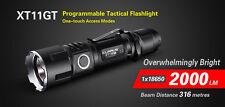 KLARUS XT11GT 2000 Lumens Xtreme Tactical Flashlight USB Charging Free Battery