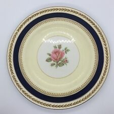 More details for crown ducal ware large decorative rose floral round serving plate blue gold