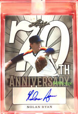 2018 LEAF 70TH ANNIVERSARY AUTO: NOLAN RYAN #1/1 OF AUTOGRAPH UNCIRCULATED HOF