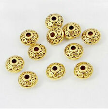 Free Ship 100Pcs Silver Gold Plated Spacer Beads For Jewelry Making DIY 6x4mm