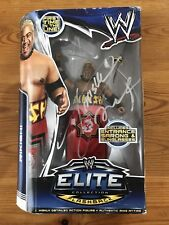 WWE ELITE FIGURE ( RIKISHI) originally signed box