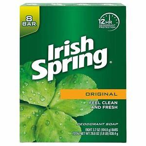 Irish Spring Original Deodorant Soap for Unisex - 8 bars , 3.75 oz each
