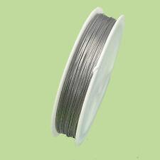 Schmuckdraht Edelstahlseil nylonummantelt 0,38mm 50 m Farbe Stahl nenad-design