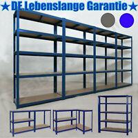 Steckregal Werkstattregal Kellerregal Schwerlastregal Metallregal Lagerregal Neu