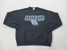 VINTAGE Nascar Sweater Adult Extra Large Black Gray Dale Earnhardt Racing Mens
