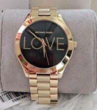 Sale! Michael Kors Slim Runway Gold-tone Love Watch Edition MK3803