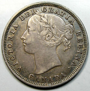 1858 Canada 20 Cents, Key Date