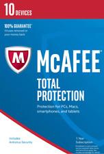 McAfee Total Protection 2018 10 PC / Geräte / 1 Jahr Vollversion
