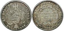 BOLIVIE 1/5 BOLIVIANO 1864  KM#151.2
