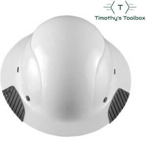 LIFT Safety HDF-15WG DAX White, Full Brim Hard Hat