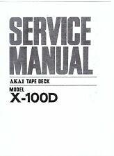 Akai  service manual  für X- 100 D Copy