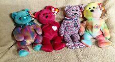 Ty Beanie Babies USA 2000, December Birthday, Peace, and Valentina Bears
