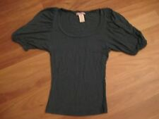 LADIES CUTE GREEN VISCOSE SHORT SLEEVE TOP BY SUPRE - SIZE XXS - AUS 6/8 CHEAP