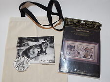 "1995 Three Wolves Classic Cross Stitch Kit & 13 1/2"" x 15"" Linen Tote Bag"