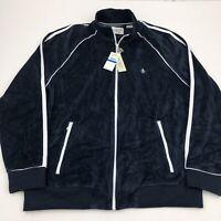 NEW Men's Original Penguin Track Jacket Full Zip Navy Blue XL