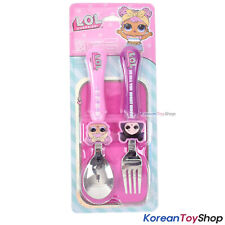 LOL Surprise Stainless Steel Spoon Fork Set Face Handle Design Made in Korea