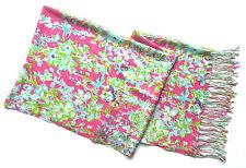 NWT Lilly Pulitzer Cashmere Silk Murfee Scarf Shawl Wrap Pop Pink Southern Charm