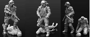 1/35 Resin Zombie Killer Hunter W/zombies unpainted unassembled Big Set
