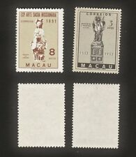 Macau 1951-2 Two Semi-Classic items (2v)Fresh MNG