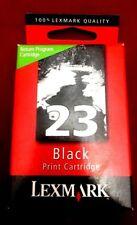 Lexmark 23 OEM/Genuine/Original Black Ink Cartridge Sealed New FREE SHIPPING