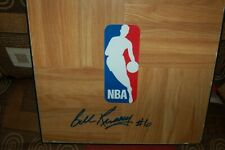 BOSTON CELTICS BILL RUSSELL SIGNED 12X12 FLOORBOARD W/  COA