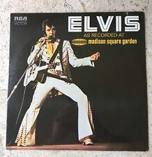 1972 ELVIS PRESLEY GENUINE VINYL ALBUM 33 1/3LP LIVE CONCERT RECORDING @ GARDEN