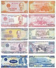 VIETNAM - Lot Lote 5 billetes 200/500/1000/2000/5000 dong FDS - UNC