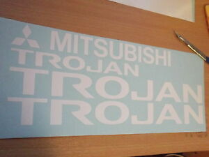 Mitsubishi L200 Trojan Replacement / alternative  stickers SET